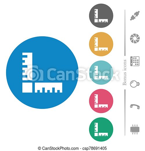 Page rulers flat round icons - csp78691405