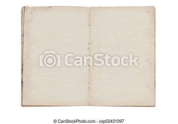 Pages Livre Vieux Ouvert Vide