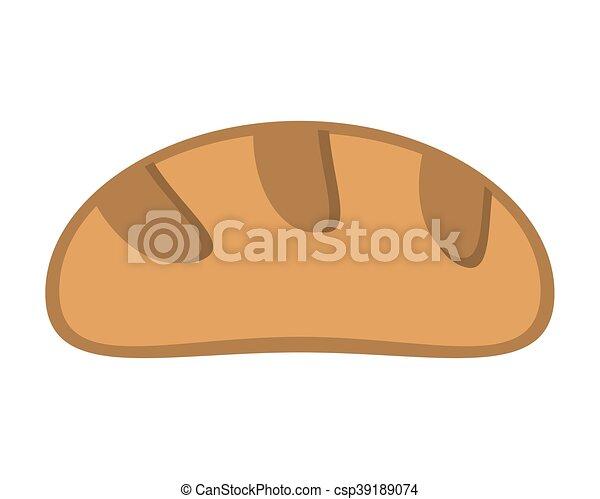 pagnotta, bread, icona - csp39189074