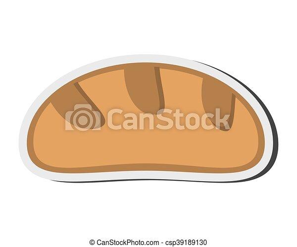 pagnotta, bread, icona - csp39189130