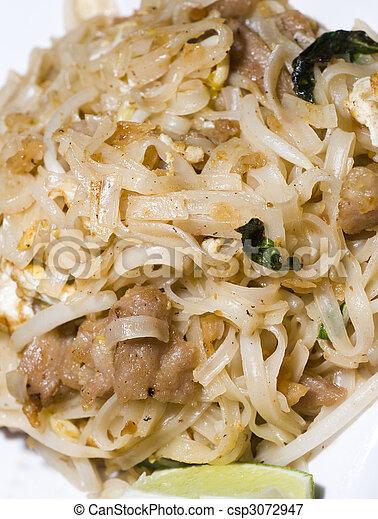 pai thai rice noodles food - csp3072947