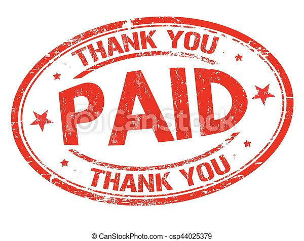 Paid And Thank You Sign Or Stamp Paid And Thank You Grunge - Invoice paid stamp