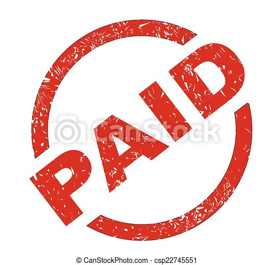 paid a paid red ink stamp over a white background rh canstockphoto com pain clip art clipart paid in full stamp