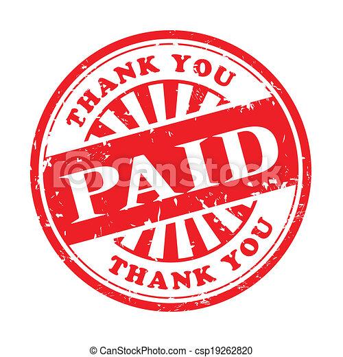 paid grunge rubber stamp - csp19262820