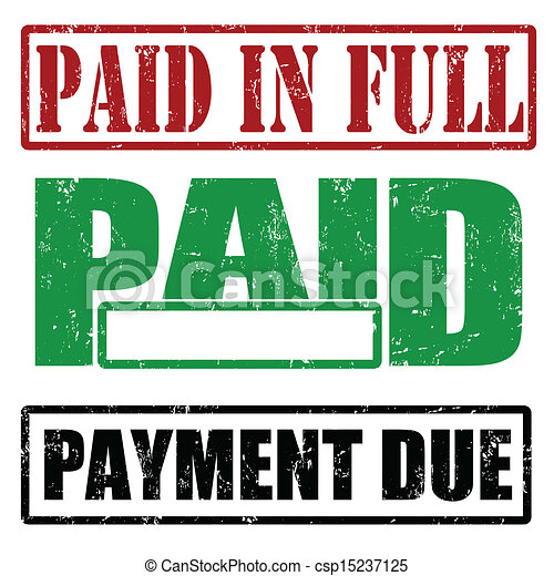 paid in full paid and payment due set of stamps with words rh canstockphoto com plaid clip art free pain clip art