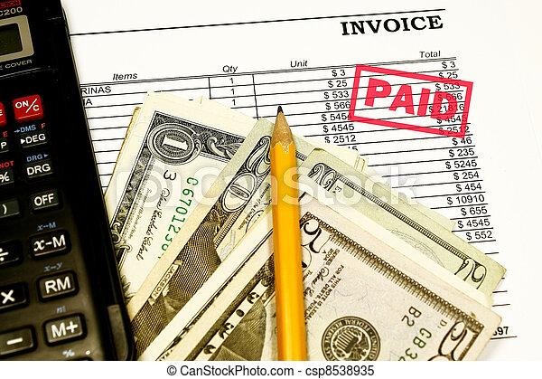 Paid Invoices - csp8538935