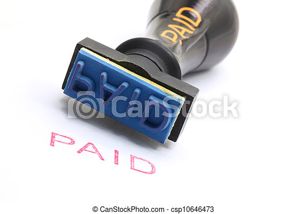 paid rubber stamp - csp10646473