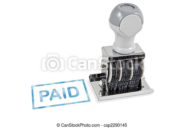 Paid Rubber Stamp - csp2290145