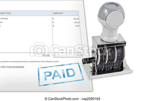 Paid Rubber Stamp - csp2290164