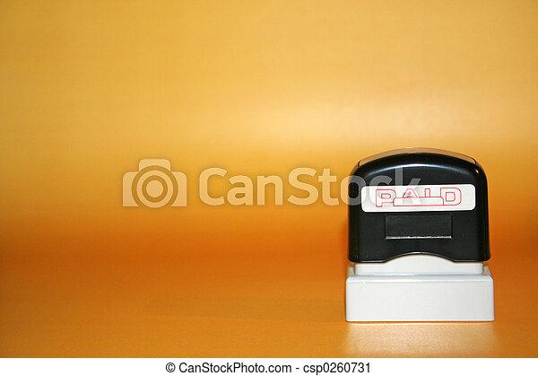 Paid Stamp - csp0260731