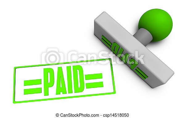 Paid Stamp - csp14518050