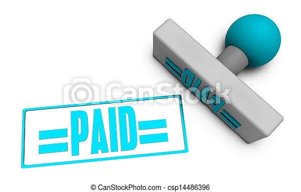 Paid Stamp - csp14486396