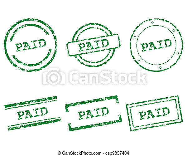 Paid stamps - csp9837404