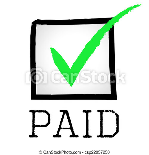 paid tick represents mark paying and bills tick paid stock rh canstockphoto com paid clip art for office pain clipart images
