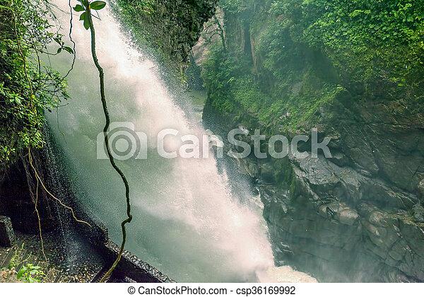 Pailon Del Diablo Waterfall, Ecuador - csp36169992