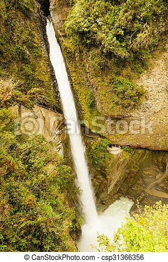 Pailon Del Diablo Waterfall - csp31366356