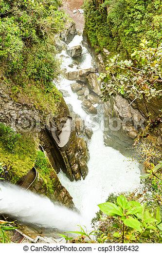 Pailon Del Diablo Waterfall - csp31366432