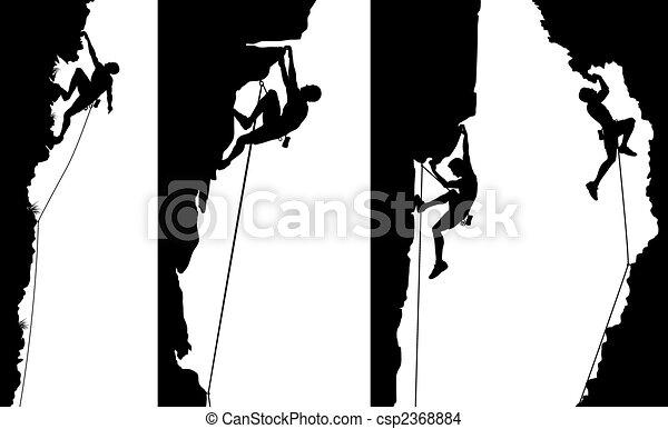 painéis, escalador, lado - csp2368884