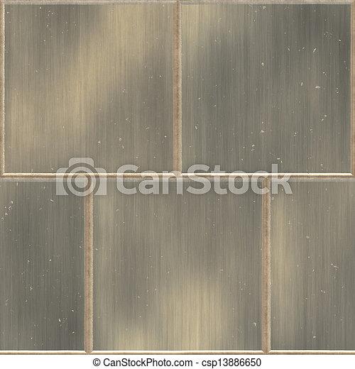 painéis, metal, amarela - csp13886650