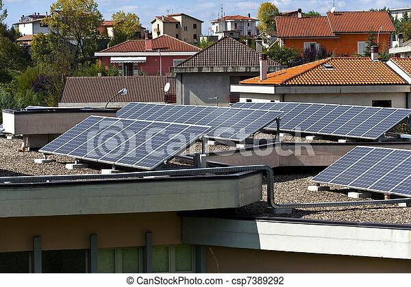 painéis, solar - csp7389292