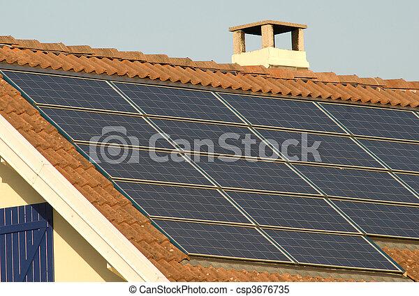 painéis, solar - csp3676735