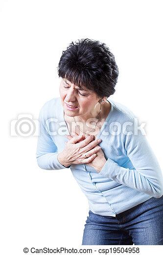 Pain in chest - csp19504958