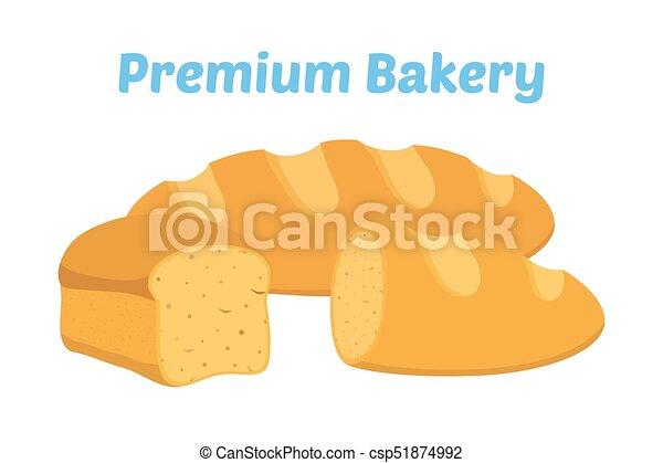 Pain Plat Dessin Animé Pastry Vecteur Grain Boulangerie Pain