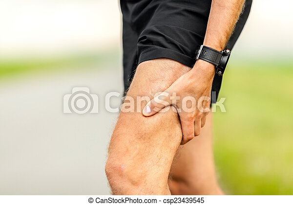 Painful injury, runners physical muscle pain - csp23439545