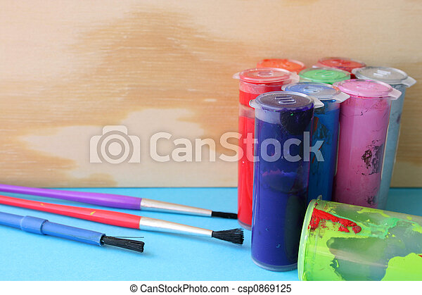 Paint and Brushes - csp0869125