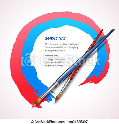 Paint Brush Background Brushes Color Frame Artistic Design