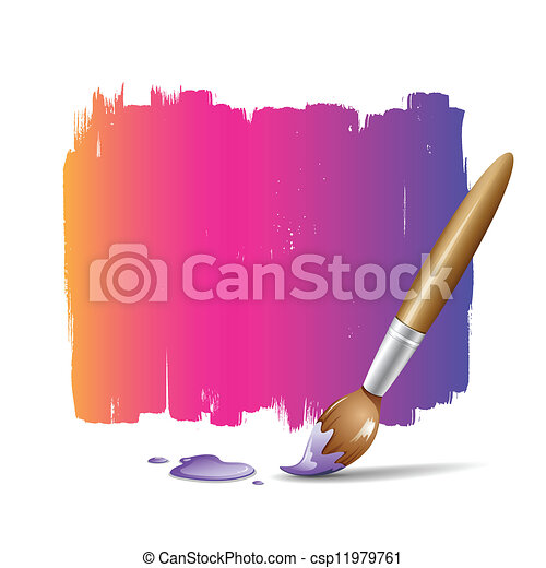 Paint brush colorful background - csp11979761