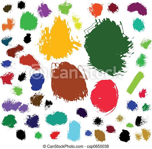 Paint brush spots - csp0650038