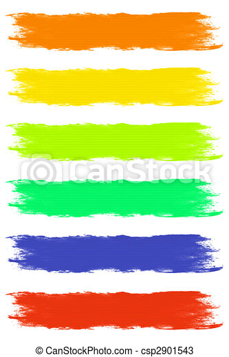 paint brush strokes in assorted pastel colors rh canstockphoto com brush stroke clipart free brush stroke clipart