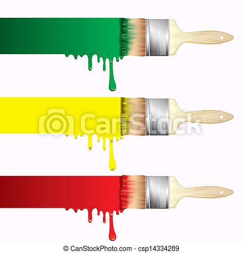 Paint brushes - csp14334289