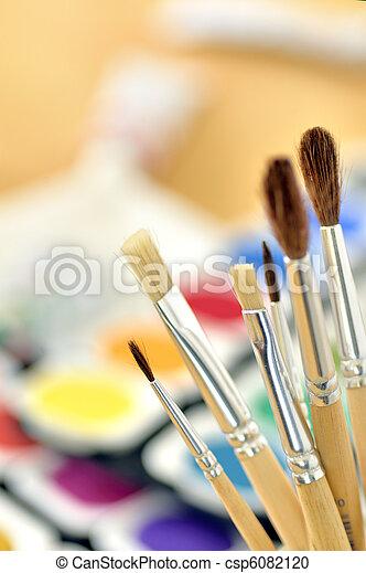 Paint brushes - csp6082120