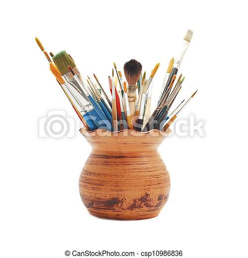 paint brushes - csp10986836