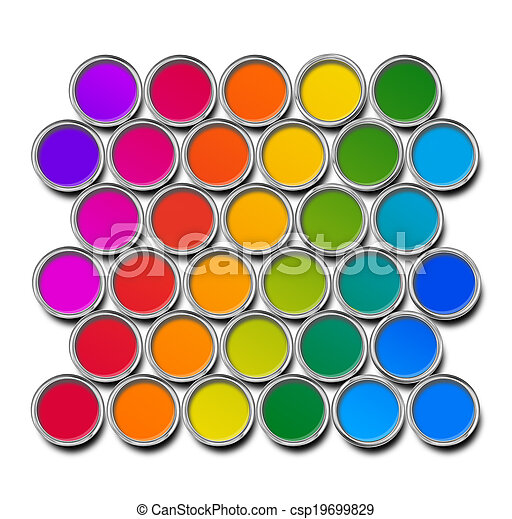 Paint cans color spectrum - csp19699829