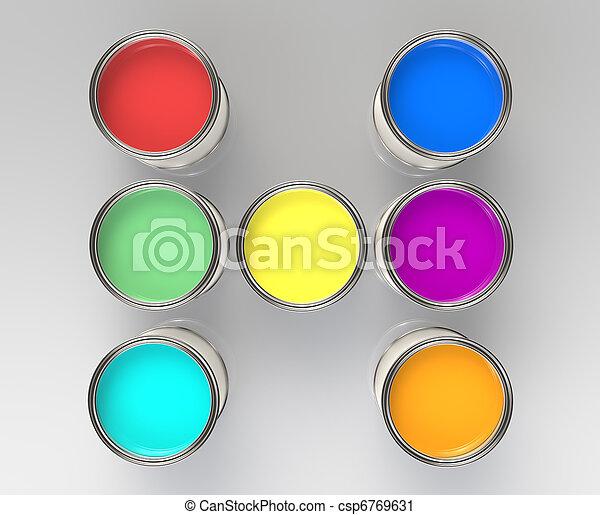 Paint Cans - csp6769631