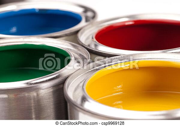 paint cans - csp9969128