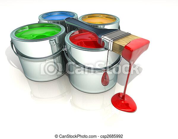 Paint cans - csp2685992