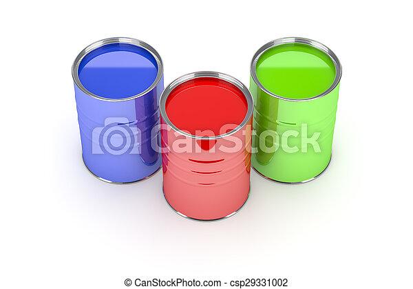 paint cans - csp29331002