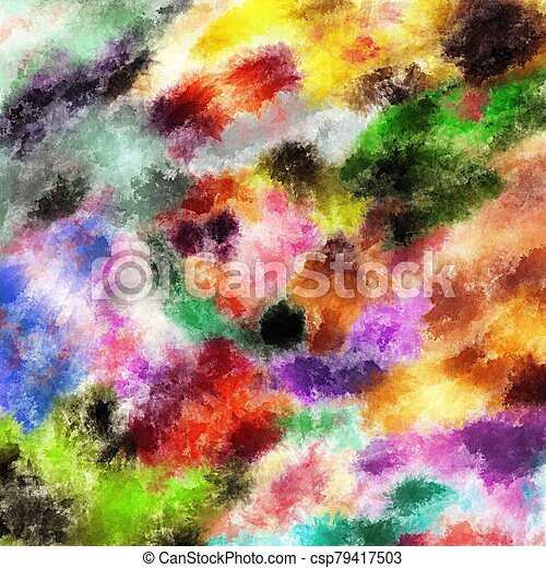 Paint on a white background - csp79417503