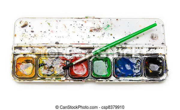 paint on a white background - csp8379910