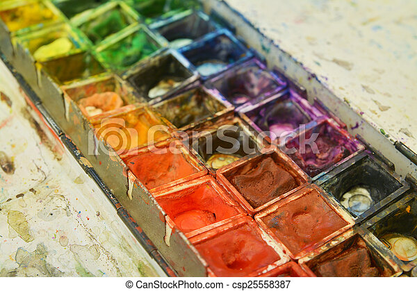 paint palette - csp25558387