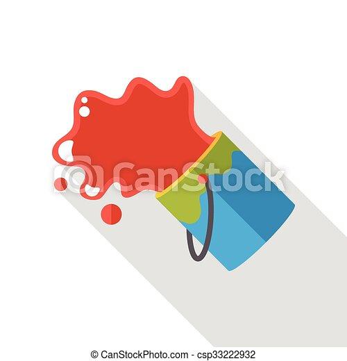 paint pigment flat icon - csp33222932