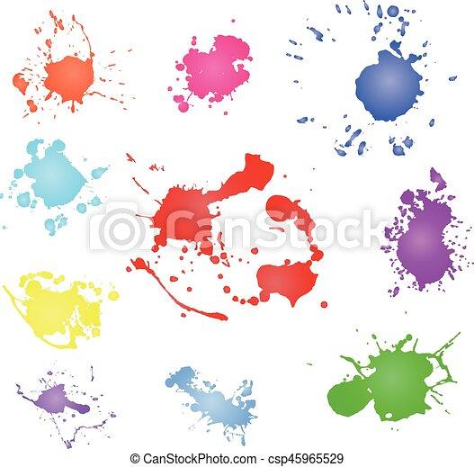 Paint splash vector  Paint blotch