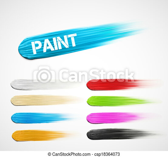 Paint strokes - csp18364073