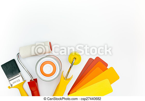paint tools and accessories for home renovation - csp27440682
