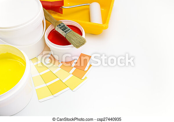 paint tools and accessories for home renovation - csp27440935