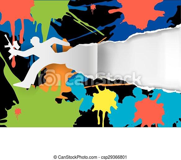 Paintball background - csp29366801